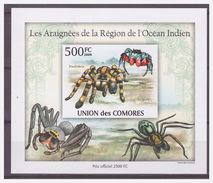 0290 Comores 2009 Spin Spider Araignee S/S MNH Imperf - Spinnen