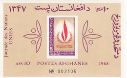 Afghanistan, Scott 790, 1968 International Human Rights Year Souvenir Sheet MNH - Afghanistan