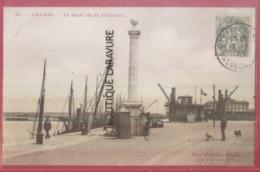 62 -CALAIS--Le Quai De La Colonne--animé - Calais
