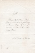 La Rochelle - Faire Part De Mariage - Mai 1858 - Mr Auguste Godet Avocat - Mlle Louise Hivert - Mariage