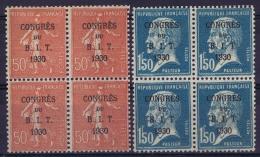France Yv 264 + 265 2*  Postfrisch/neuf Sans Charniere /MNH/**  + 2* MH/* Falz/ Charniere  Block De 4 - France