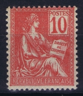 France : Yv 112 Postfrisch/neuf Sans Charniere /MNH/** 1900 - 1900-02 Mouchon