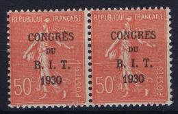 France : Yv 264 Postfrisch/neuf Sans Charniere /MNH/** Pair Sans Accent E De Congres Tenant Avec Accent - France