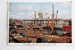CPSM Dublin The Customs House River Liffey Navire Nombreux Tonneaux Voitures Anciennes 1956 - Dublin