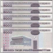 TWN - BELARUS 29b - 5000 5.000 Rublëy 2000 DEALERS LOT X 5 UNC - Bielorussia