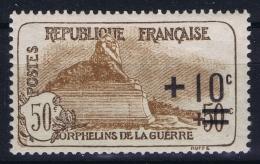 France : Yv  167 Postfrisch/neuf Sans Charniere /MNH/**  1922 Orphelins - France
