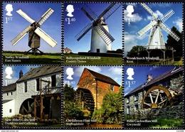 Great Britain - 2017 - Windmills Of England - Mint Stamp Set - Nuovi