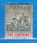 BARBADOS - 1892-1903 *- . Yvert. 49. MH. Linguellato  Vedi Descrizione. - Barbados (...-1966)