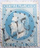LOT DF/6 - NAPOLEON III Lauré N°29A (sur Fragment) GC 2777 PAMIERS (Ariège) INDICE 3 - 1863-1870 Napoleon III With Laurels
