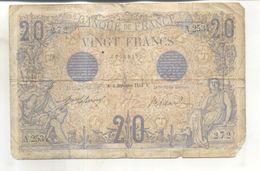 Billet 20 Francs Bleu 2 Septembre 1913 - 1871-1952 Circulated During XXth