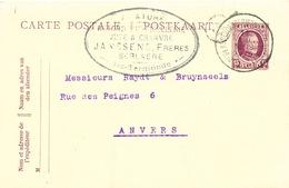 428/25 - Entier Postal Houyoux BERLAERE (Dendermonde) 1923 - Cachet Filature Corderie Ficellerie Janssens Frères - Postcards [1909-34]