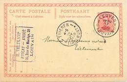 429/25 - Entier Postal Petit Albert Cachet FORTUNE à Etoiles LEUVEN 1 En 1920 - Cachet Avocat Veltkamp - Postcards [1909-34]