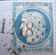 LOT DF/12 - CERES N°60C (sur Fragment) GC 1248 CUGES (Bouches Du Rhône) ☛ INDICE 12 - 1871-1875 Cérès