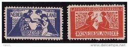 134-135 Ongebruikt Met Plakker - Periode 1891-1948 (Wilhelmina)