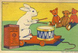 ( CHROMOS) LESSIVE LACROIX (les Animaux Blancs) Le Lapin   (b.bur Theme) - Chromos