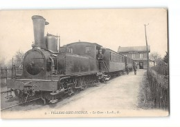 CPA 59 Villers Sire Nicole La Gare Et Le Train Tramway Ligne Maubeuge Villers Sire Nicole - France