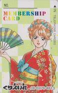 Télécarte Japon / 110-016 - MANGA - Femme Kimono Eventail - Woman Girl & Fan ANIME Japan Phonecard - BD Comics TK - 8360 - BD