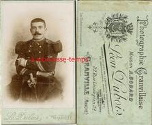 CDV Officier Du 2e Régiment-photo Léon Dubois Rue Lecampion à Granville - War, Military