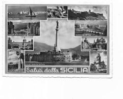 SALUTI DALLA SICILIA   VIAGGIATA FG - Unclassified