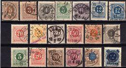 SU 2 - SUEDE 19 Timbres Entre N° 16 Et 39 Oblitérés - Suède
