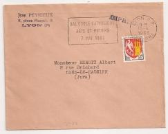 LYON R.P. Rhone BAL ECOLE CATHOLIQUE ARTS ET METIERS 7 MAI 1965. . FLAMME TEMPORAIRE. - Postmark Collection (Covers)