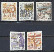 °°° SVIZZERA - Y&T N°1264/68 - 1987 MNH °°° - Suisse