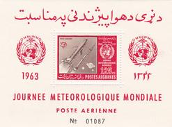 Afghanistan,Yvert BF 37 1962 World Meteorogical Day Souvenir Sheet MNH - Afghanistan