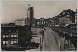 Lausanne - Le Grand Pont Et La Tour Bel-Air - Photo: O. Sartori No. 612 - VD Waadt