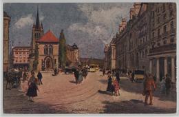 Lausanne - Place St. Francois - Animee - Künstlerkarte A. Stein - VD Vaud