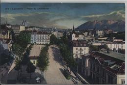 Lausanne - Place Du Chauderon - Tram Animee - Photo: Societe Graphique No. 178 - VD Vaud