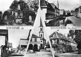 CPSM Dentelée - STOTZHEIM (67) - Carte Multi-Vues De 1955 - Francia