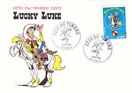 Lucky Luke Fête Du Timbre 2003 Evreux 15 Mars 2003 - 2000-09