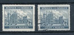 Böhmen Und Mähren Mi. 34 Postfr. + Gest. Mährisch-Ostrau Industriewerk Eisenbahn Gleise - Böhmen Und Mähren