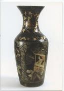 Vase Décoratif Papier Maché Jute 1880/1900 : Production Ateliers Adt Pont à Mousson - Fine Arts