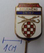 HRVATSKI KLIZAČKI SAVEZ, Skating Federation Croatia PINS BADGES P2 - Skating (Figure)
