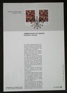 FDC Sur Document - YT Service N°112, 113 - CONSEIL DE L'EUROPE - 1994 - 1990-1999