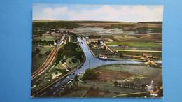 CPA Meuse Demange-aux-Eaux Canal De La MMarne Au Rhin La Patte D'Oie Et L'écluse - France