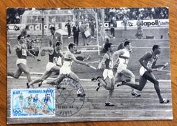 SPORT OLIMPIADI DEL MESSICO 1968  STAFFETTA CARTOLINA FRANCOBOLLO ED ANNULLO SPECIALE  ANNULLO SPECIALE - Atletica