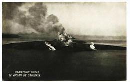 11- 3104 -  Grece - ATHENES  : LE  VOLCAN  DE SANTORIN  EN ERUPTION   1927 - Griechenland