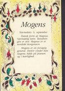 Denmark PPC Navne Kort Name Card 'Mogens' HØJE TAASTRUP 1991 HEDEHUSENE (2 Scans) - Vornamen