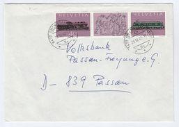 1982 SWITZERLAND COVER Stamps STEAM TRAIN Railway - Trains