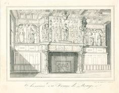 436/25 - Lithographie De Daveluy à BRUGES - Cheminée Du Franc De Bruges - Litografía