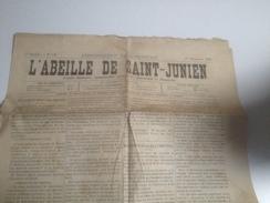 Journal, L'ABEILLE De ST JUNIEN , 17 Novembre 1889, St Junien - Zeitungen