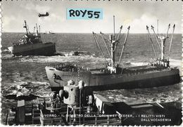 Toscana-livorno Rada Veduta Recupero Relitti Disastro Della Nave Grommet Reefer Naufragata Nel 1952 Animatissima - Livorno