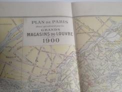Plan De Paris , 1900, Offert Par Les Grands Magasins Du Louvre, Plan Expo Universelle - Europe