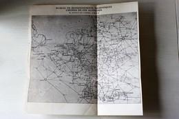 Plan Ancien Réseau Chemins De Fer Allemands Bureau De Renseignements Touristiques 38 Avenue Opéra Paris - Europe