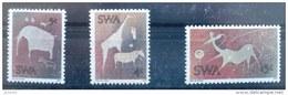 SUD OUEST AFRICAIN - SWA Peintures Rupestres, Animaux. Yvert 338/40. ** Neuf Sans Charniere MNH - Préhistoire