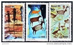 BRESIL Peintures Rupestres, Prehistoire  Yvert 1731/33 Brapex VI. MNH ** - Préhistoire