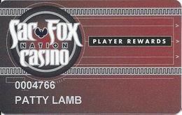 Sac Fox Casino - Shawnee, OK - Slot Card - Insert Arrows On Right - Casino Cards