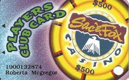Sac & Fox Casinos - Powhattan, KS - Slot Card - Casino Cards